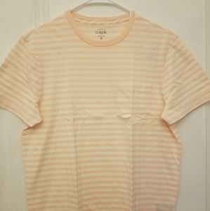 J.Crew Walty Stripe Pink Salt Tee